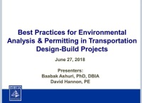 Best Practices for Environmental Analysis & Permitting in Transportation Design-Build Projects
